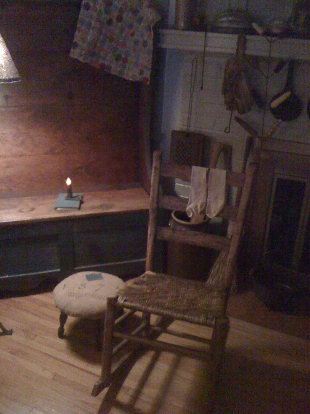 Old rocking chair... where I have rocked away many tears and fears... my own