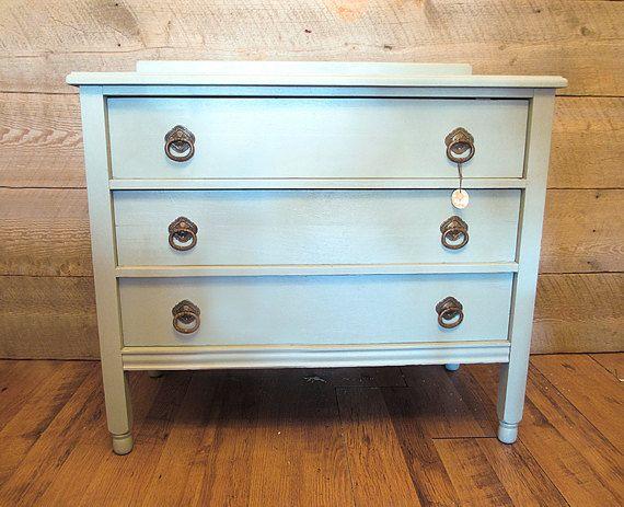 Reserved For Wendell Solid Oak Dresser Vintage 3 Drawer Blue In Tustin Ca