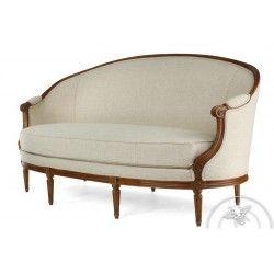 Canape Louis Xv Tissu Beige Pompadour Canape Ancien Meuble De Style Salon Classique
