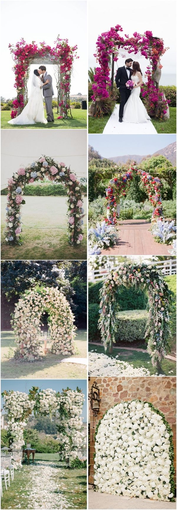 25  Stuning Wedding Arches with Lots of Flowers | http://www.deerpearlflowers.com/25-stuning-wedding-arches-with-lots-of-flowers/
