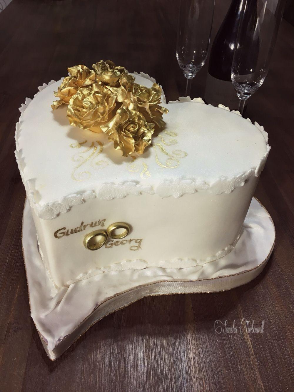 Goldene Hochzeit Torte Sanelas Tortenwelt Wedding Cake