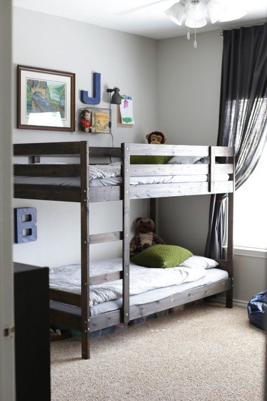 Comfort Simplicity In A Room For Four Brothers Bunk Beds For Boys Room Bunk Bed Designs Bunk Beds Boys