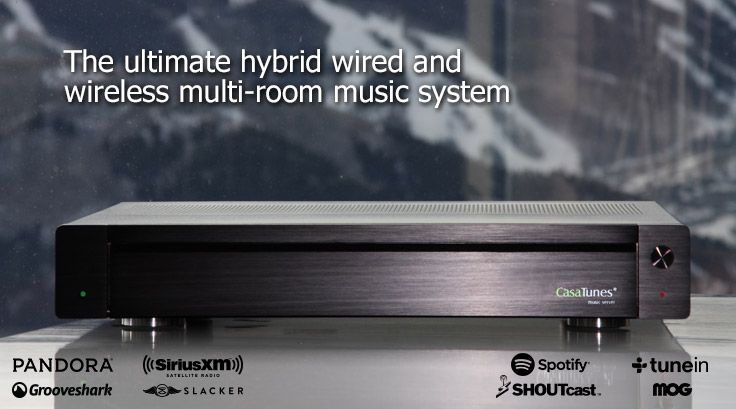 CasaTunes - hybrid wired and wireless multi-room music system ...