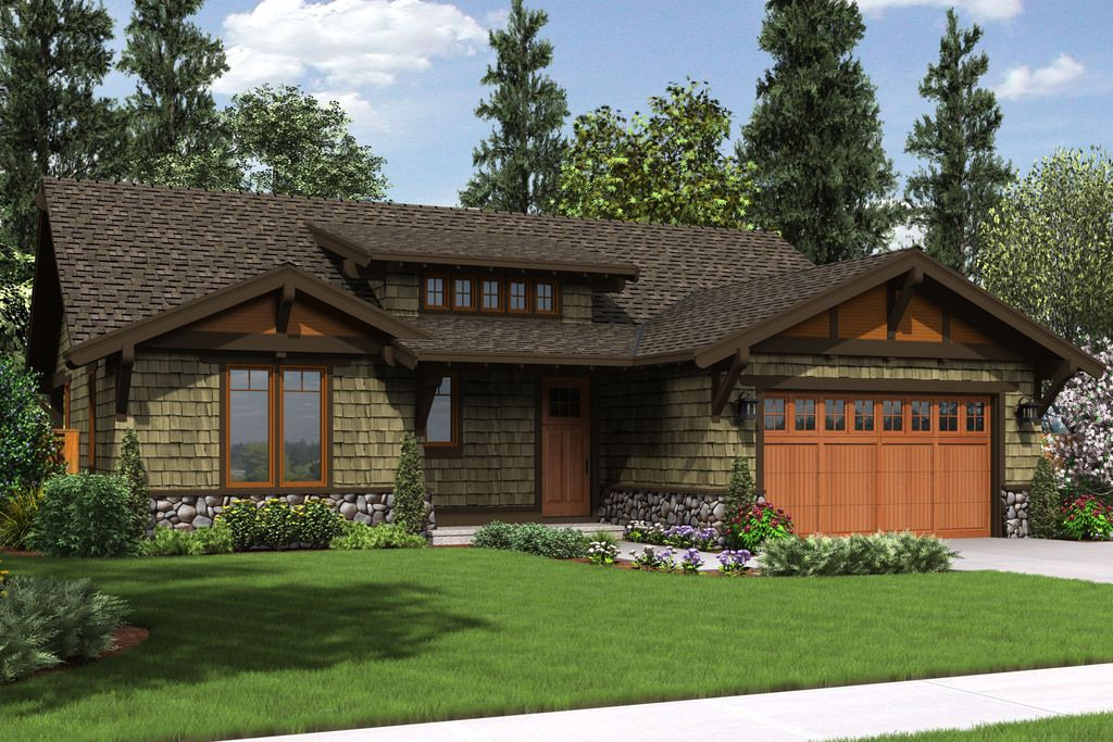 Craftsman Style House Plan 3 Beds 2 Baths 1641 Sq Ft Plan 48 560 Ranch House Plans Craftsman House Plans Cottage Style House Plans