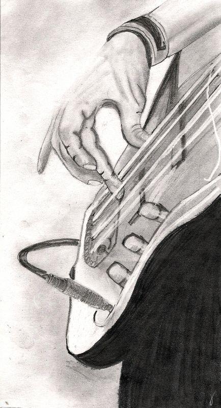 Guitar Guy Sketch Music Drawings Guitar Sketch Guitar Drawing