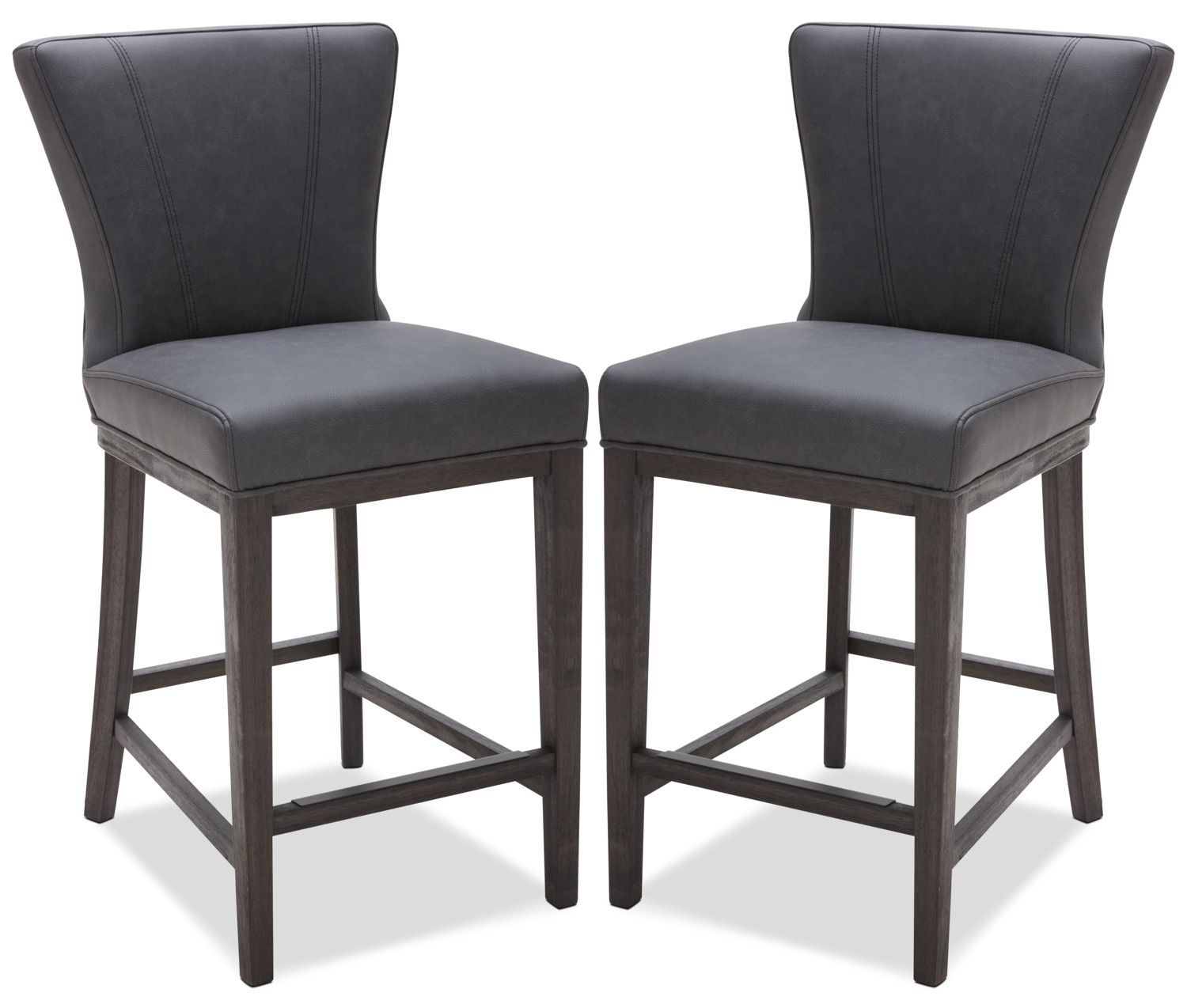 Quinn counter height stool set of 2 grey