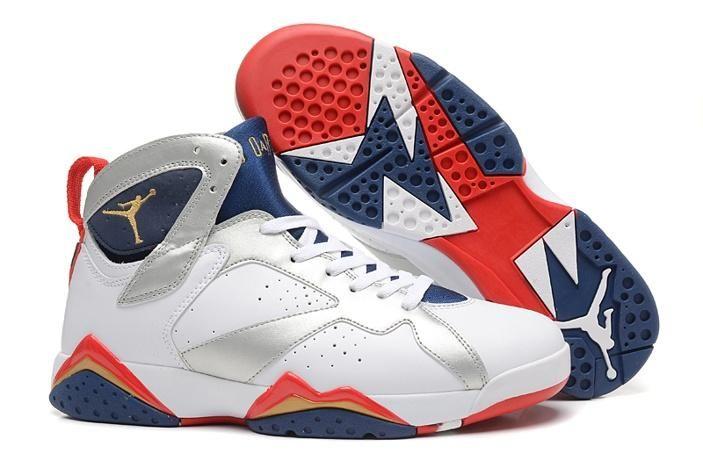Nike Air Jordan 7 Damen Schuh Schwarz Rot Blau Billig