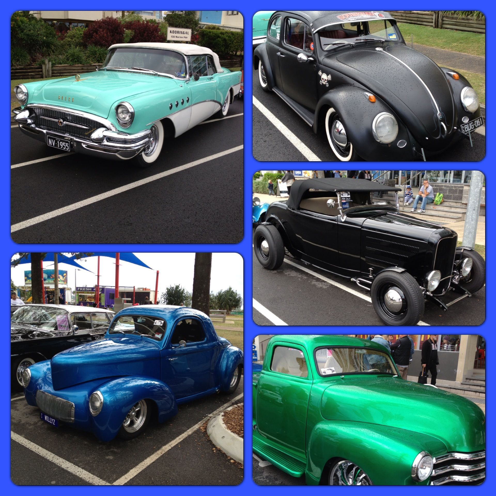 VW\'s and all old fabulously restored cars at Cooly Rocks Festival in ...