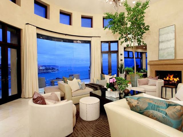 cool world most beautiful home living room | Ocean view living room. Beautiful luxury mansion in ...