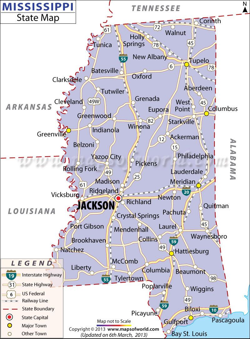 Map Of Mississippi Cities I39ve Visited Biloxi