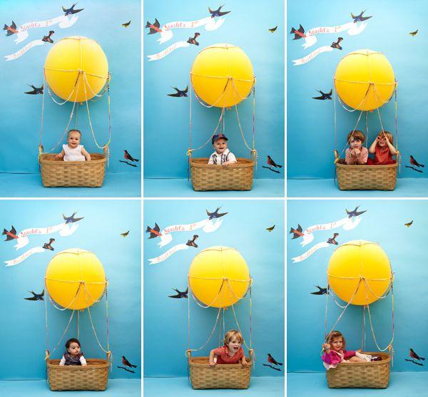 Kids' Hot Air Balloon Photobooth DIY  {oh happy day}