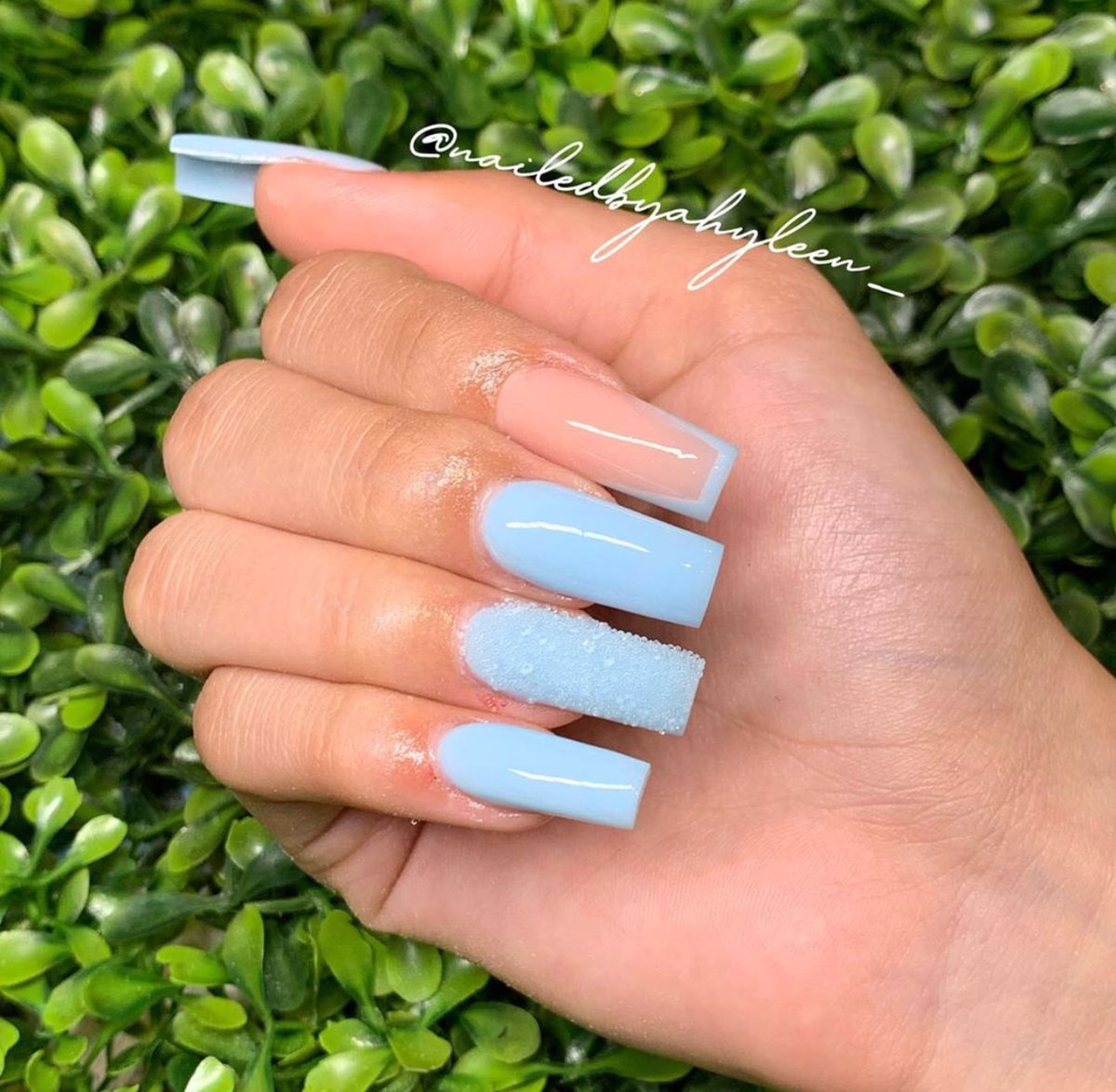 Pin by Gomeztania on Baby Blue Nails in 2020 | Baby blue ...