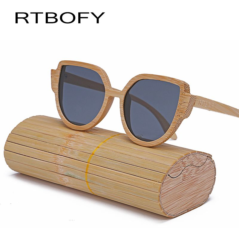 9a17d328a8 RTBOFY Hot Sale Fashion Cat Eye Wood Sunglasses Women Classic Brand  Designer Female Vintage Fashion Reflective Sun Glasses  Affiliate
