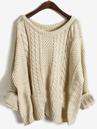 Apricot Batwing Long Sleeve Pullovers Sweater. so cheap