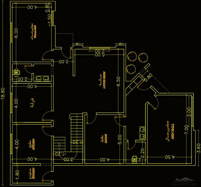 فيلا سعودي مساحة الارض 19 19 متر 4 غرف نوم Villa Plan Villa Design House Plans