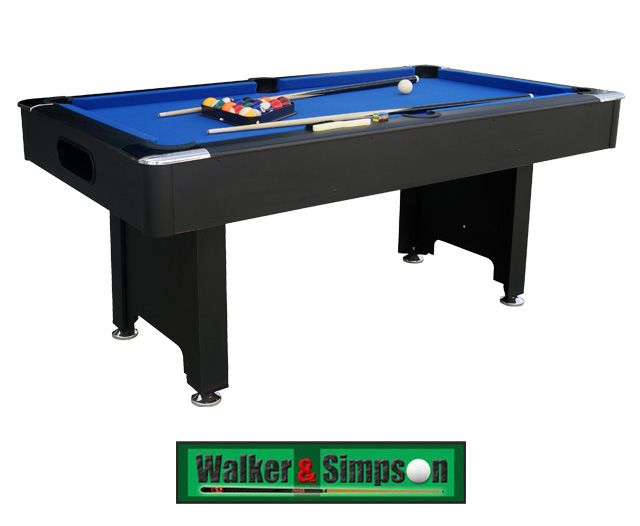 Walker /& Simpson Monarch 6ft Pool Table With Ball Return