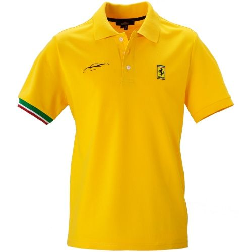 view shirt front polo merchandise slim ferrari white fit shirts collar