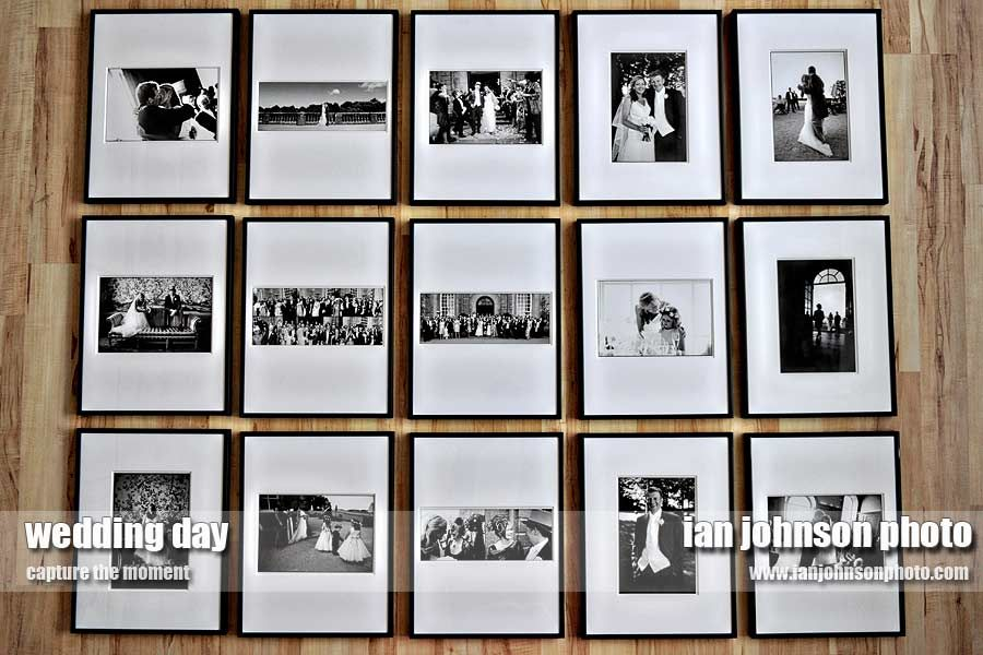 Ian Johnson Photography Shares A Cly Wedding Photo Display Less Cluttered Than Collage And