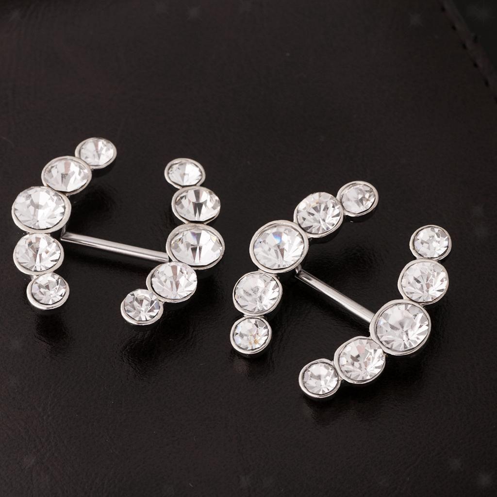 Nose piercing earrings   AUD   Pair Double Arrow Stainless Steel Nipple Shield Bar
