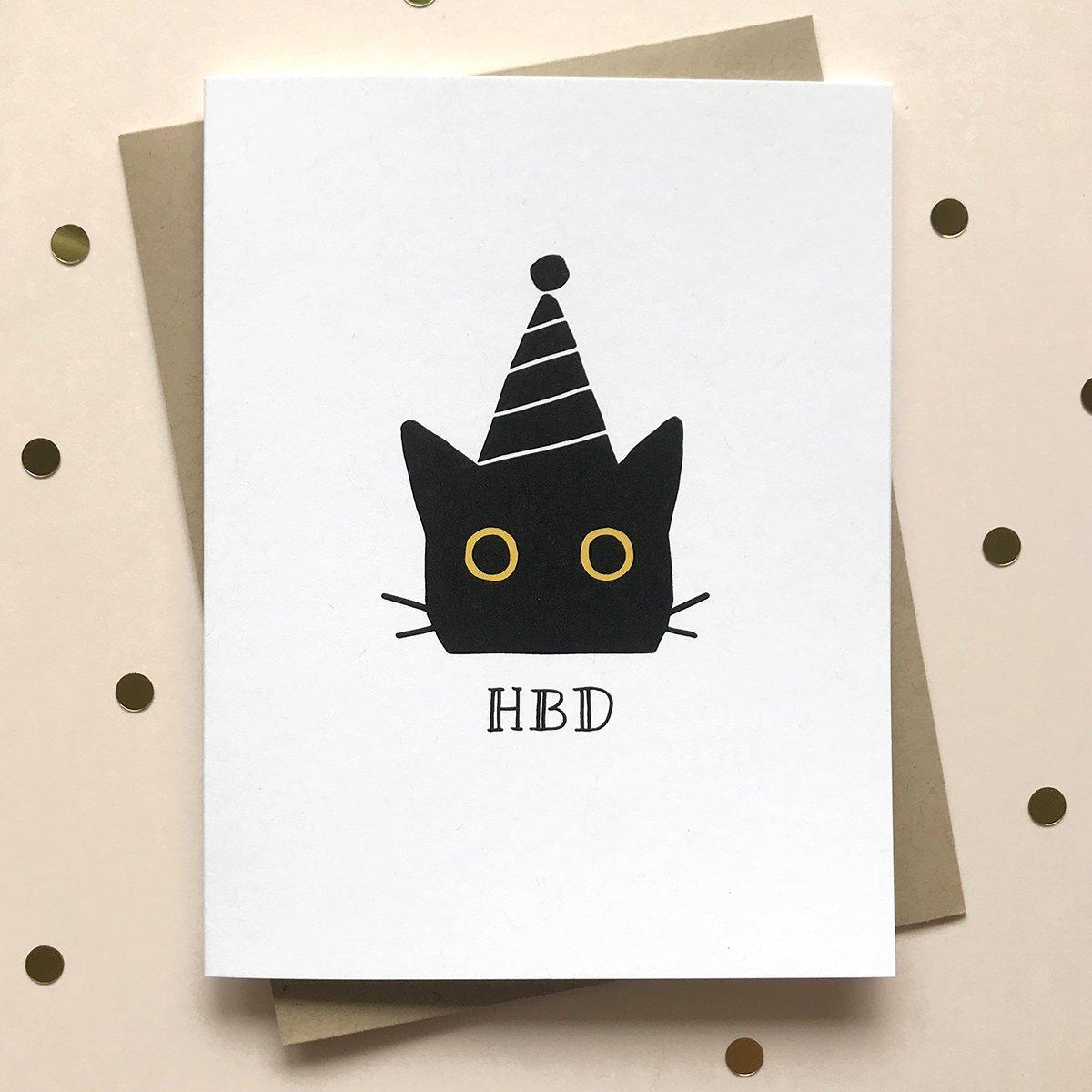 Hbd Cat Birthday Card In 2021 Cat Birthday Card Cat Birthday Cards Funny Funny Birthday Cards