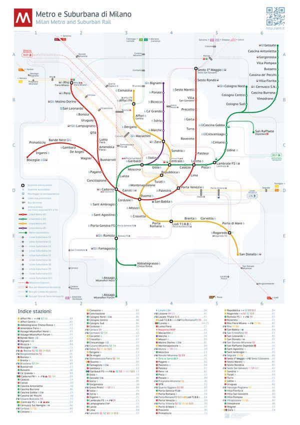 Milan Metro Map By Dmitry Goloub Via Behance Urban Transportation