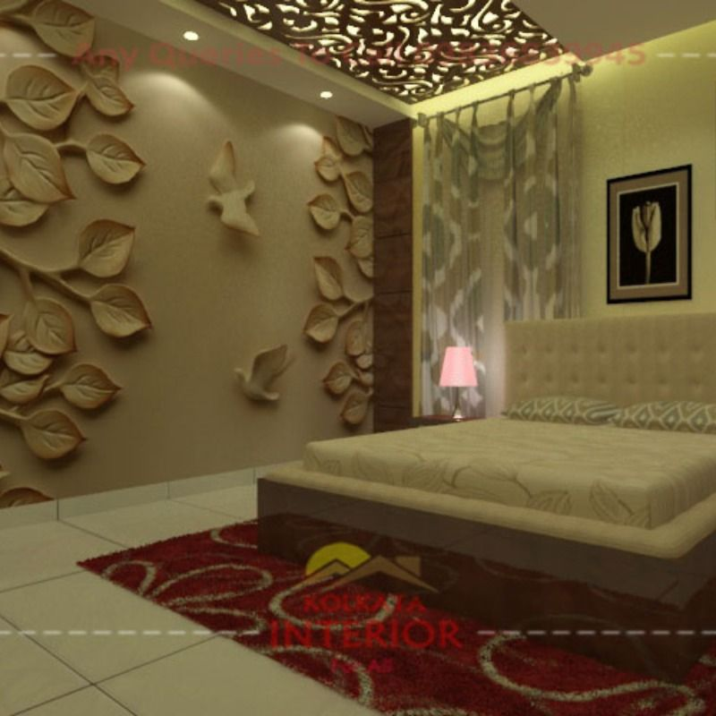 Bedroom Interior Design 1 85 Lac Cost Package Ideas Kolkata Interior In 2021 Affordable Interior Design Interior Design Bedroom Bed Interior