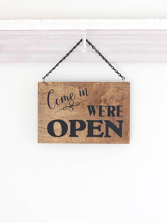 Open Closed Business Shop Hanging Door Sign Plaque Wall Plaque Decoration