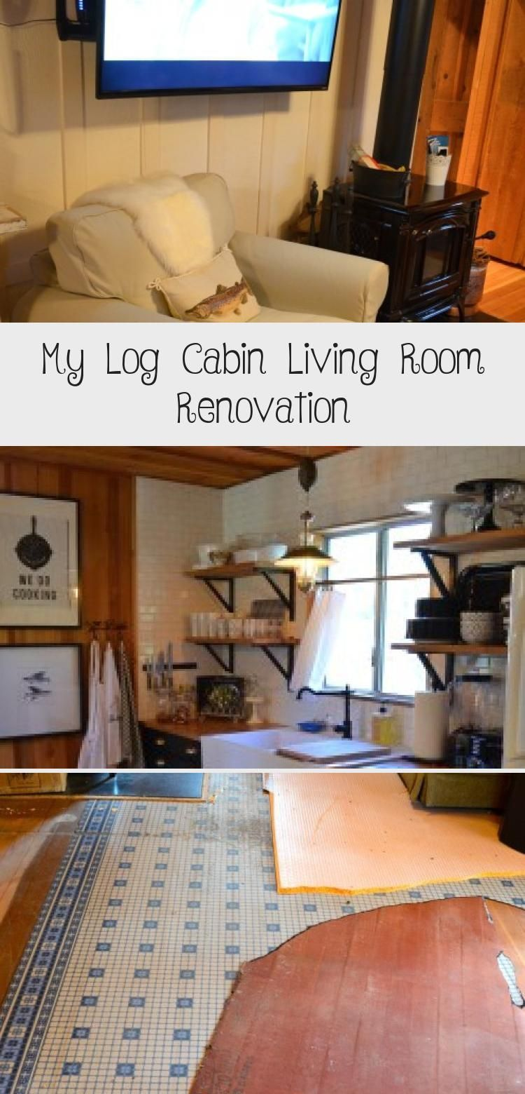 MY LOG CABIN LIVING ROOM RENOVATION | www.AfterOrangeCo... #cabindecorStones #ca...#cabin #cabindecorstones #living #log #renovation #room #wwwafterorangeco