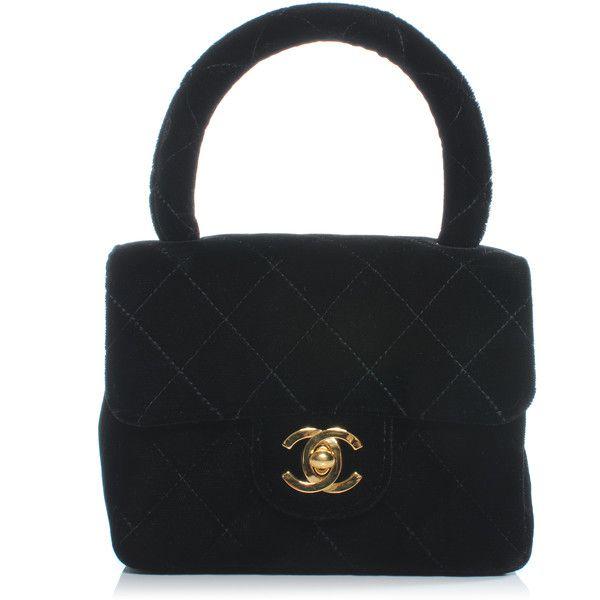 Chanel Vintage Velvet Micro Mini Kelly Flap Bag Black Flap Bag Vintage Chanel Bags