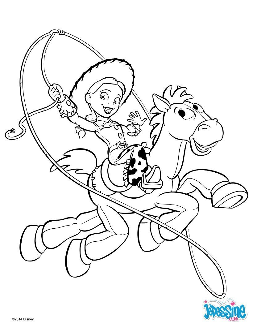 Coloriage DISNEY - Toy Story 20 - Jessie et Pile-Poil  Toy story