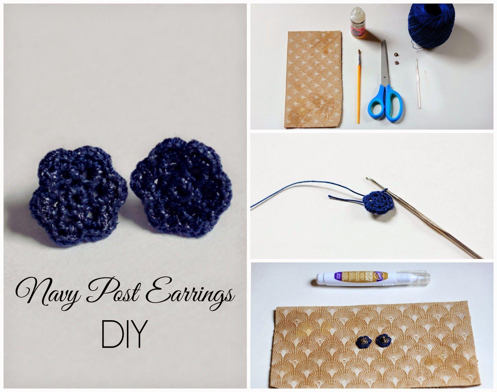 Melmaria: Navy Post Earrings DIY