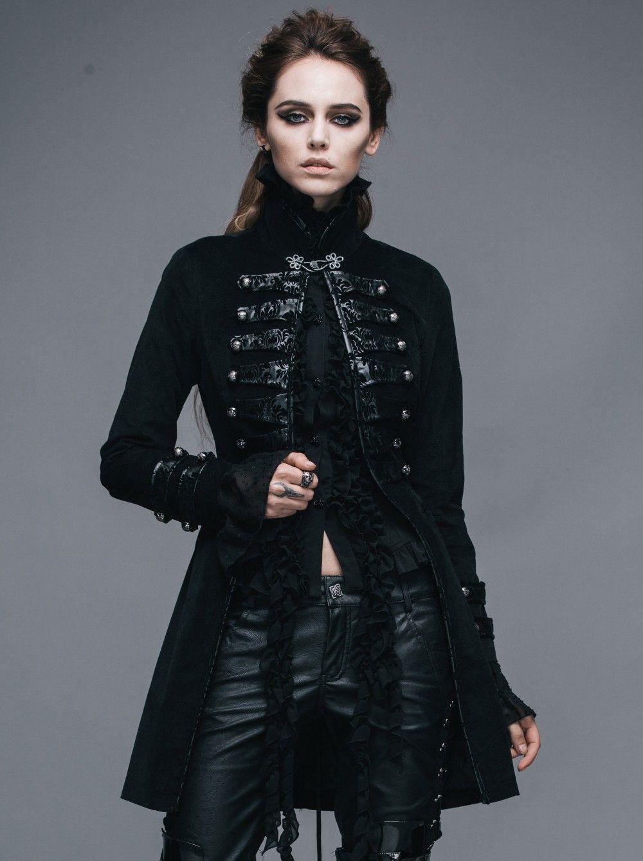 Gothic Jacke schwarz