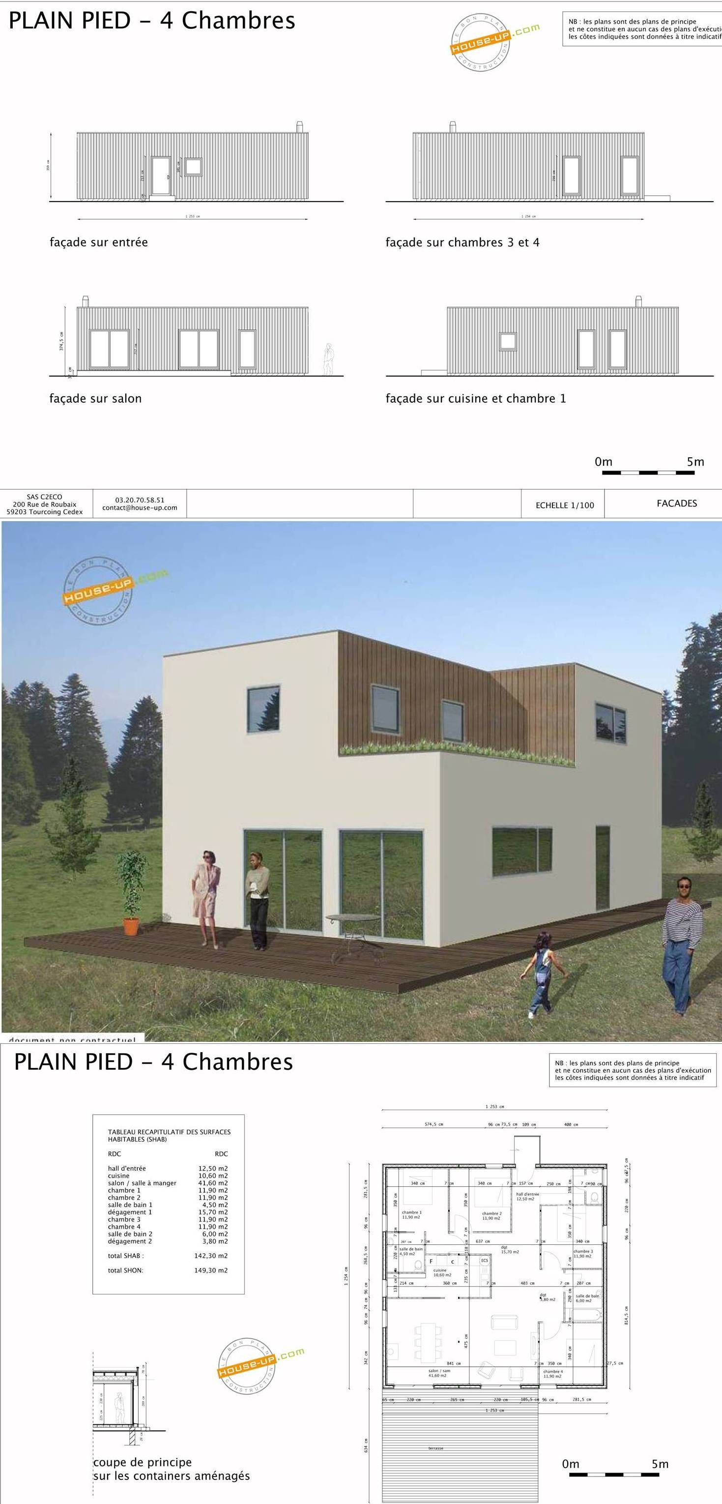 1000 images about maison container on pinterest wooden cubes cabin and house - Plan Maison Conteneur