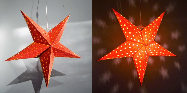 Paper Star Lampshade Lantern Goa Star Christmas Decoration