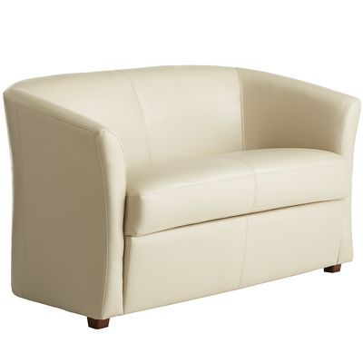 Groovy Isaac Loveseat Ivory Dig The Sleek Leather Look Could Beatyapartments Chair Design Images Beatyapartmentscom