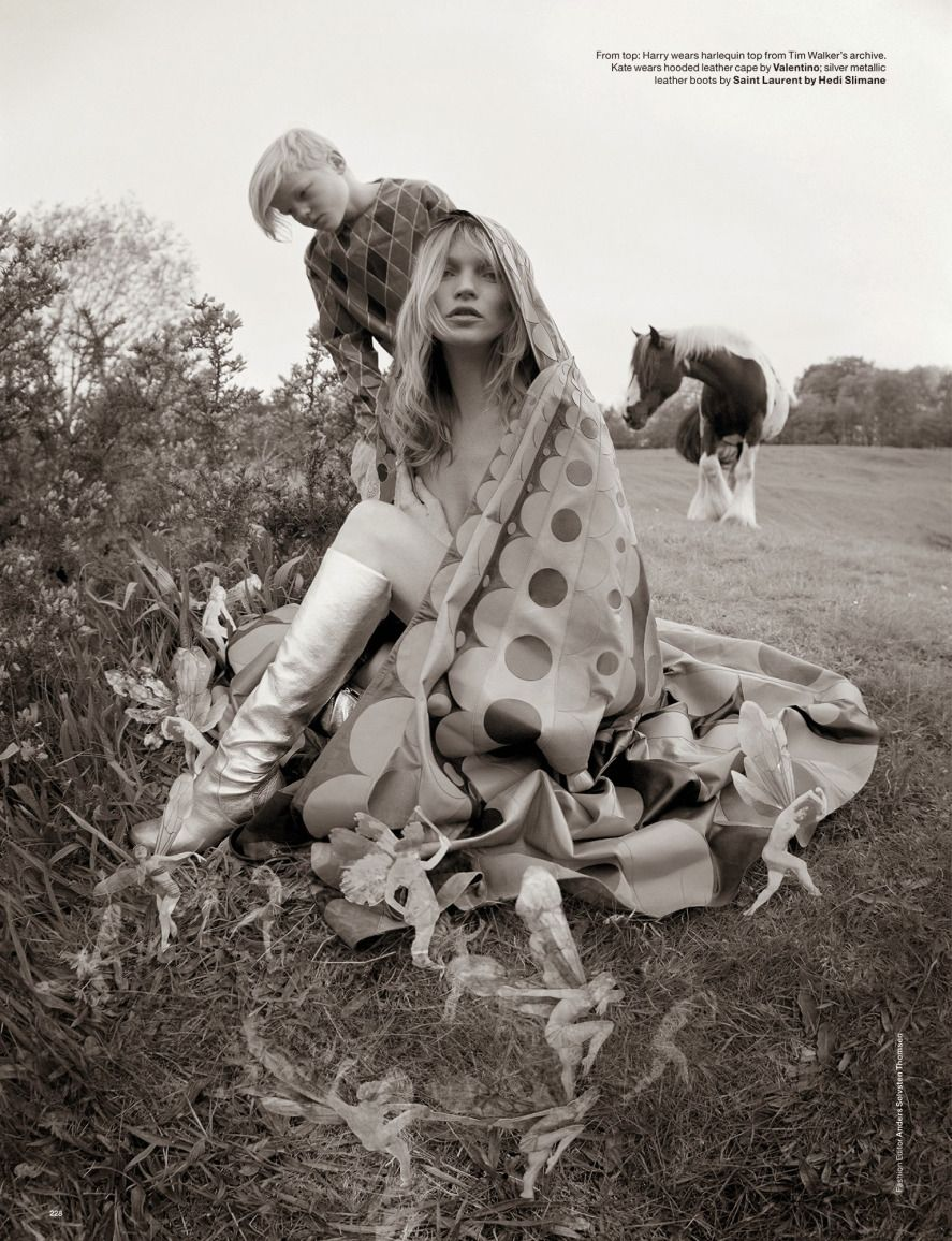 Edie Campbell, Kate Moss, Jean Campbell, Matilda, Harry, Jake Love by Tim Walker for Love Magazine Fall Winter 2014-2015 25