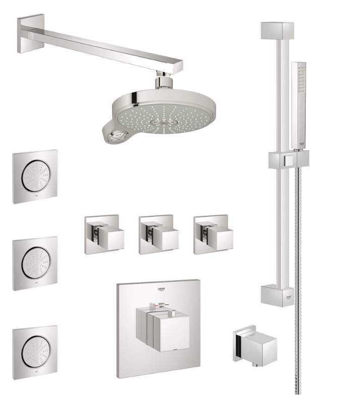 Grohe Gss Eurocube Cth 08 With Images Shower Systems Grohe