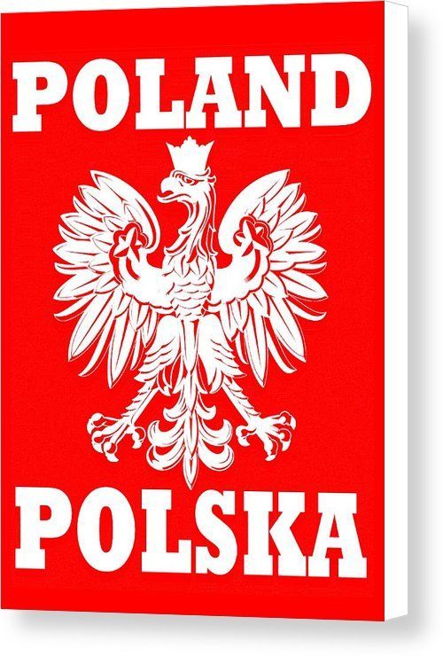 Coat Of Arms Of Poland Canvas Print Featuring The Painting Coat Of