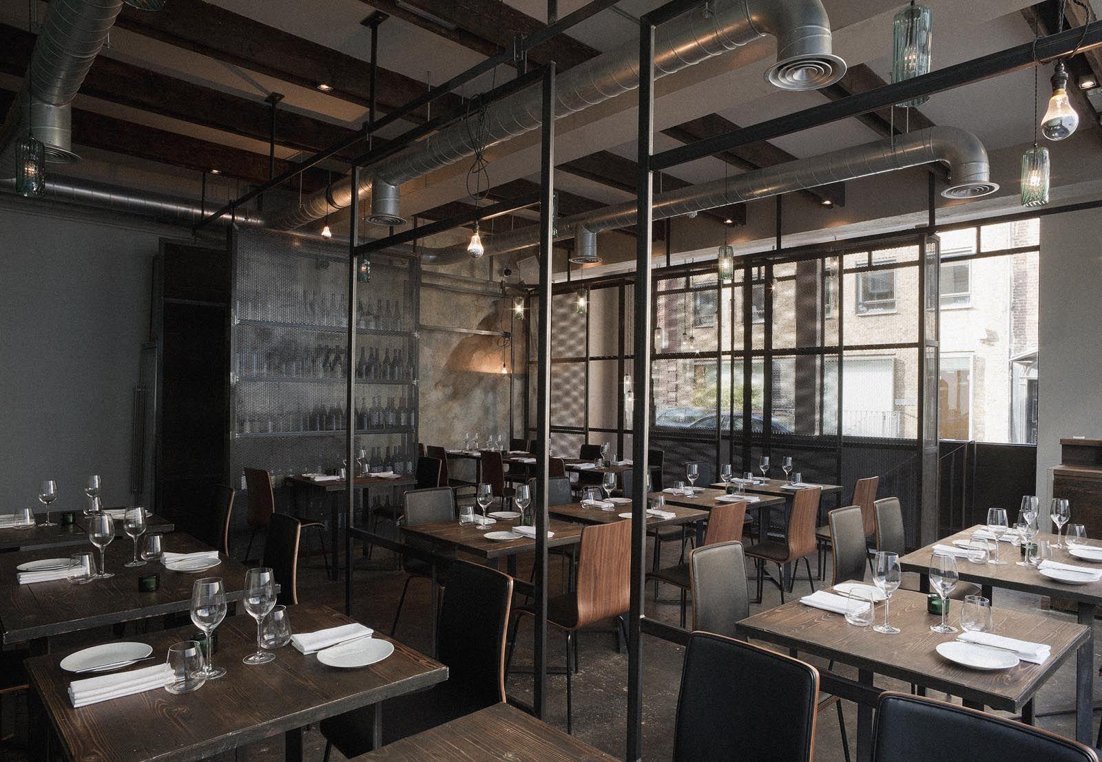 Beautiful Industrial Interior Design With Restaurant