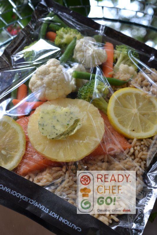 Salmon Veggies In Readychefgo Bag