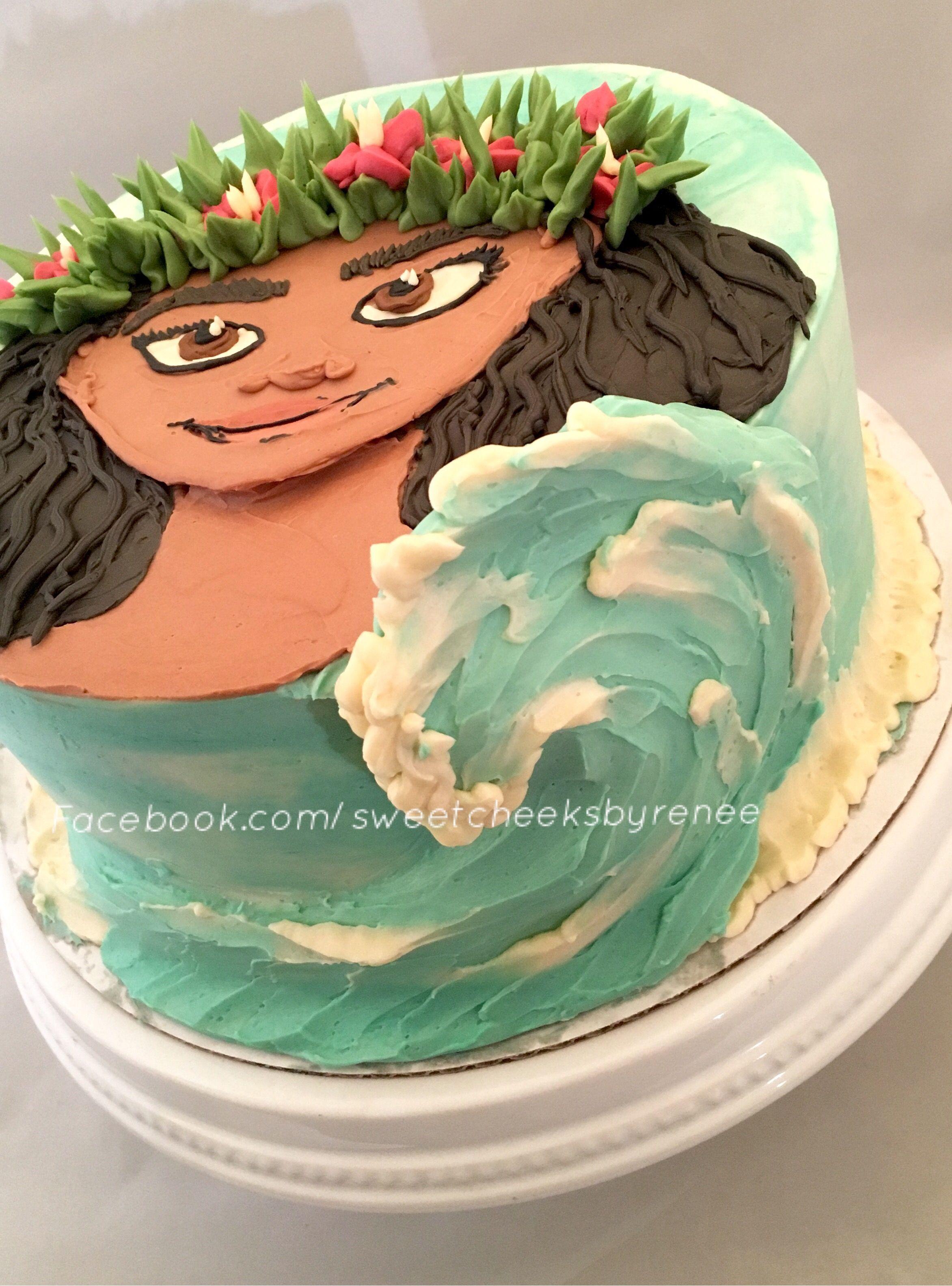 Moana Birthday Cake All Done In Buttercream Moana Birthday Cake