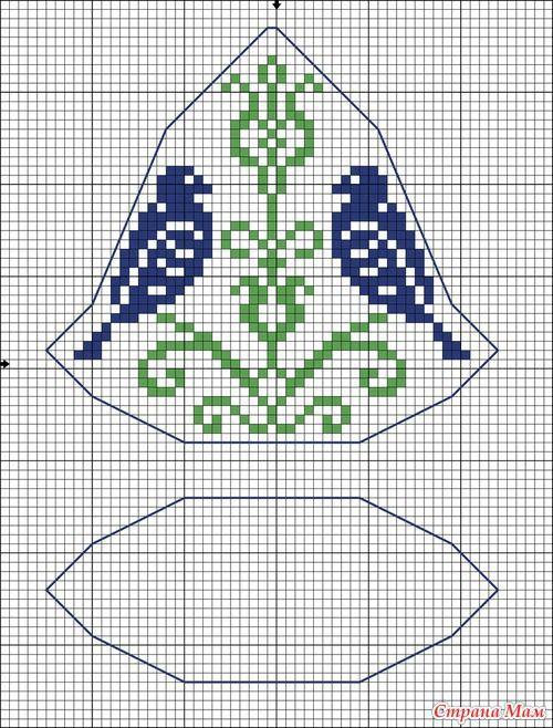 Колокольчик бискорню схемы вышивки