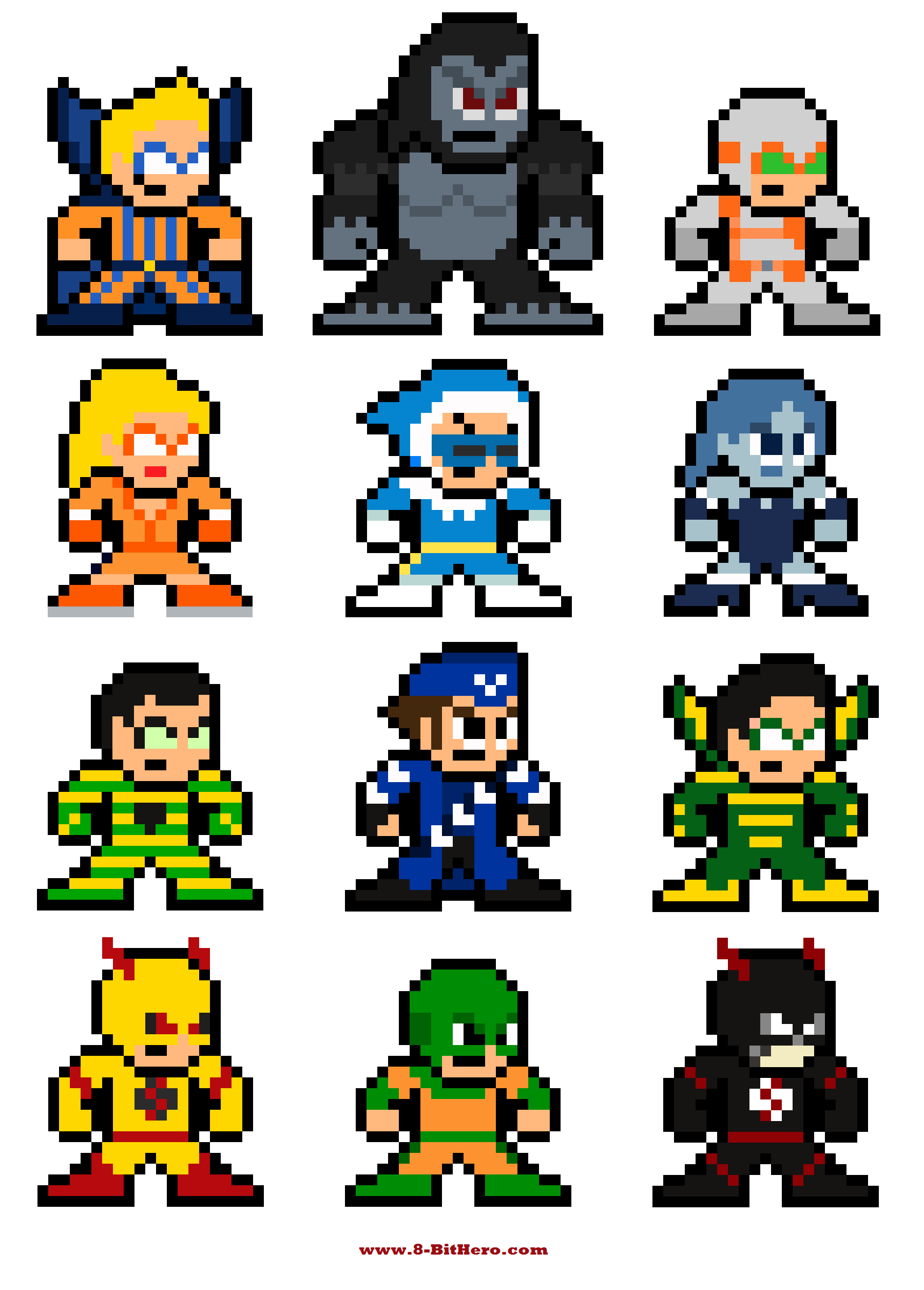 8-Bit Flash Rogues Gallery | Pixelated Pop Culture | Pinterest