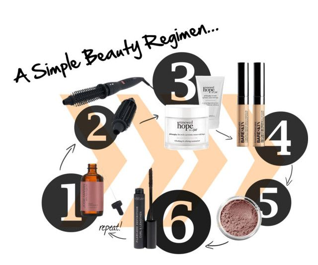 """""""A Simple Beauty Reigmen"""" by qvcnetwork ❤ liked on Polyvore featuring beleza, Bare Escentuals, Josie Maran, philosophy, Calista Tools e Beauty"""
