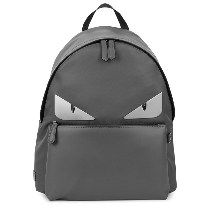 19e8f446d855 FENDI MONSTER LEATHER AND NYLON BACKPACK.  fendi  bags  leather  canvas   nylon  backpacks