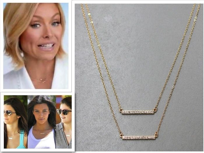Gold layered celebrity crystal horizontal sideways bar petite gold layered celebrity crystal horizontal sideways bar petite pendant necklace pendant celebrity necklace aloadofball Image collections