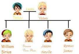 Image Result For Teddy Lupin And Victoire Weasley Teddy Lupin Harry Potter Family Tree Harry Potter Comics