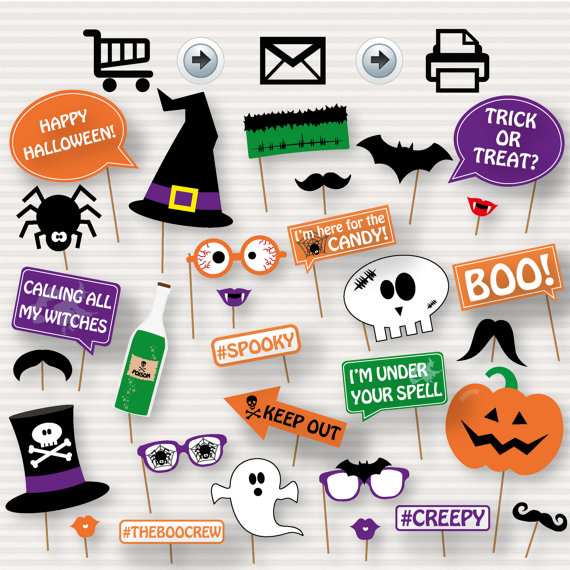 halloween printable photo booth props printable halloween photo rh pinterest com