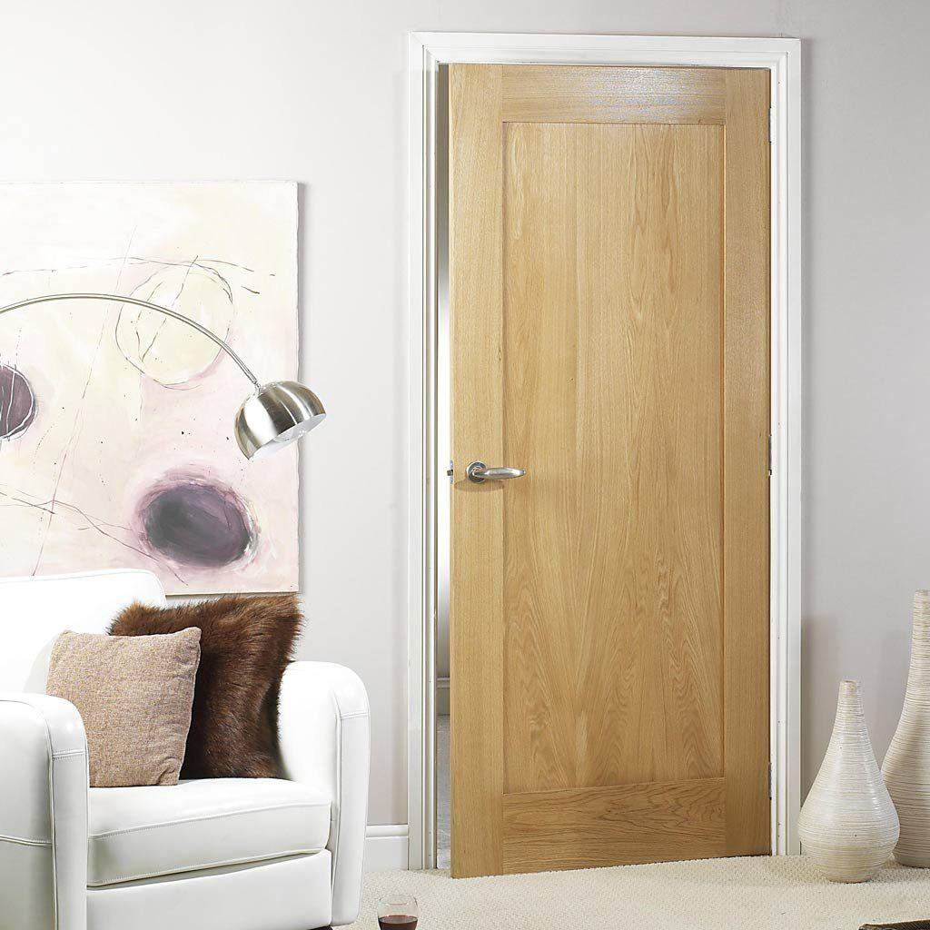 Porto Oak Veneer 1 Panel Door With Lacquered Varnish Finish Lacqueredoakdoor Lpdinternaldoor Flushoakdoor Wood Doors White Trim Panel Doors Internal Doors