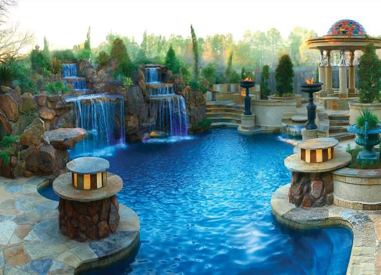 Find This Pin And More On Fabulous Backyards. Roman Pool Design ...